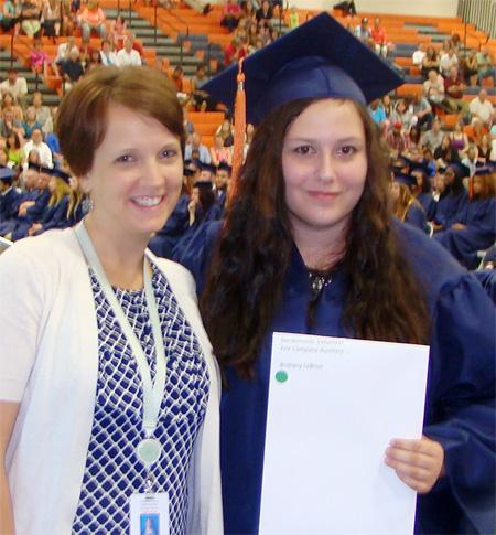 Brittany LeBrun, 2015 winner of Gordonsville Volunteer Fire Company Auxiliary Scholarship