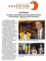 OCEF Scholarship 2013 Press Release
