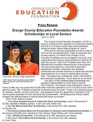 OCEF Scholarship 2016 Press Release