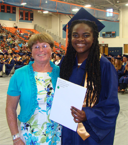 Danae Barbee, pictured with Martha Roby, OCEF Board Member, received the 2015 OCEF General Fund Scholarship.